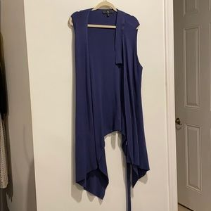 Rachel Zoe blue cardigan with belt